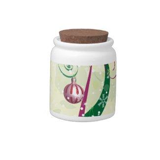 Vaso Per Caramelle Con Motivo Natalizio