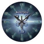 Chrome Scorpio Large Clock