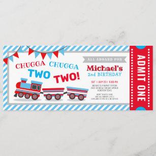train ticket invitations zazzle