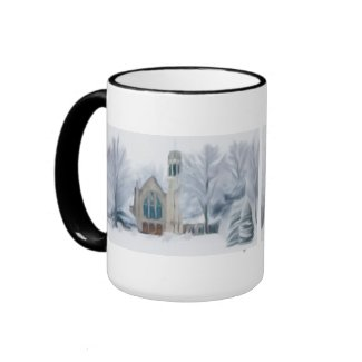 Church In The Snow Mugs