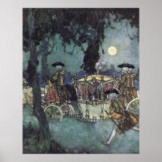 Cinderella Coach by Edmund Dulac Poster print