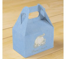 Cinderella Carriage Blue Wedding Favor Boxes