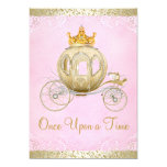 Cinderella Pink Once Upon a Time Princess Birthday Invitation