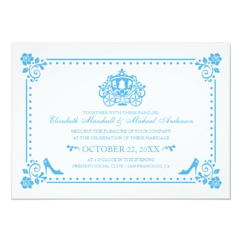 Cinderella Wedding | Carriage & Flowers Invitation
