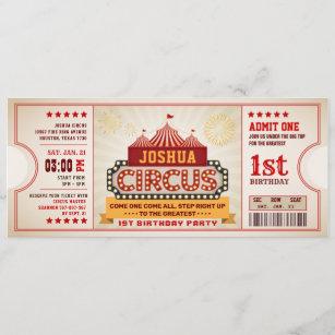 circus birthday invitations zazzle