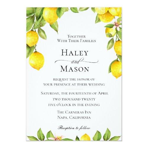 Citrus Orchard Wedding Invitation