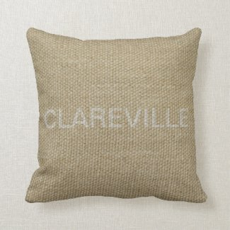 Back of Clareville cushion
