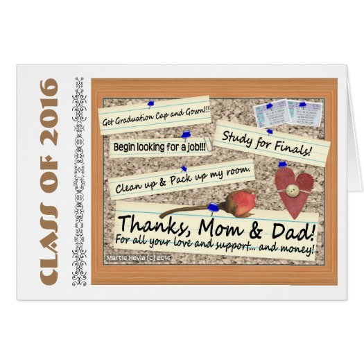 Class Of 2016/Thanks Mom & Dad (Personalize) Card