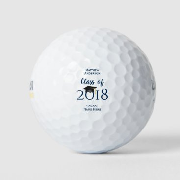 Class of 2018 Elegant Graduation Cap Graduate Golf Balls