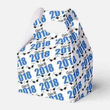 Class Of 2018 Graduation Favor Boxes (Blue)