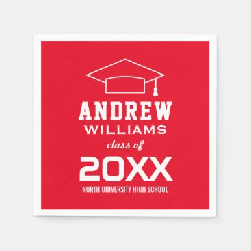 Class of 2018 Graduation Party | Red Paper Napkin