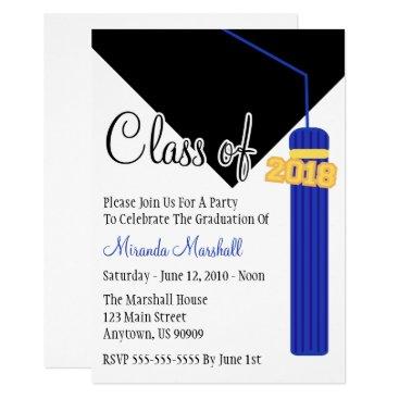 Class Of 2018 Tassel Graduation Invite (Blue)