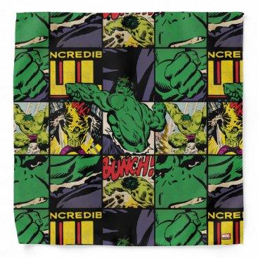 Classic Hulk Comic Book Pattern Bandana