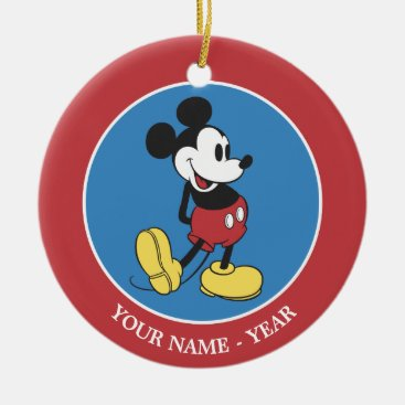 Classic Mickey Mouse | Add Your Name Ceramic Ornament