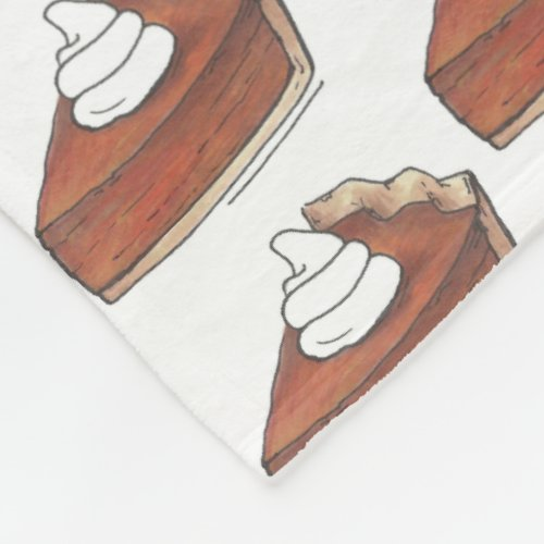 Classic Pumpkin Pie Slice Thanksgiving Dinner Food Fleece Blanket