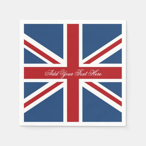 Classic Union Jack UK Flag Paper Napkin