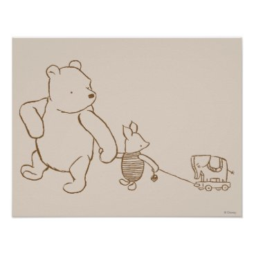 Classic Winnie the Pooh and Piglet 2 Poster