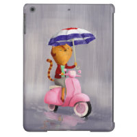 Classy Kitty Cat on pink scooter iPad Air Case