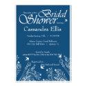 Classy Light Blue FlourishBridal Shower Invite