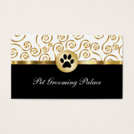 Classy Pet Groomer Business Cards