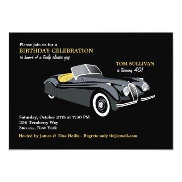 Classy Sports Car Invitation