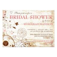 Classy Vintage Floral Bridal Shower Invitation