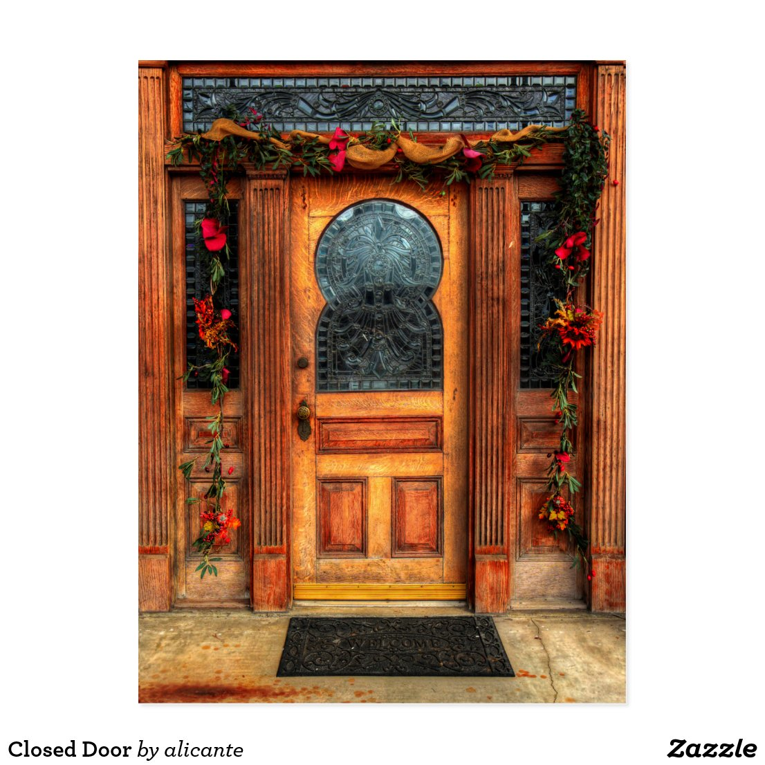 Closed Door Postcard