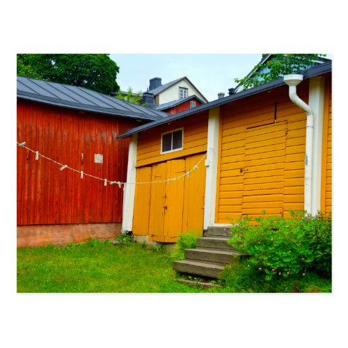 Clothesline in Porvoo, Finland Postcard