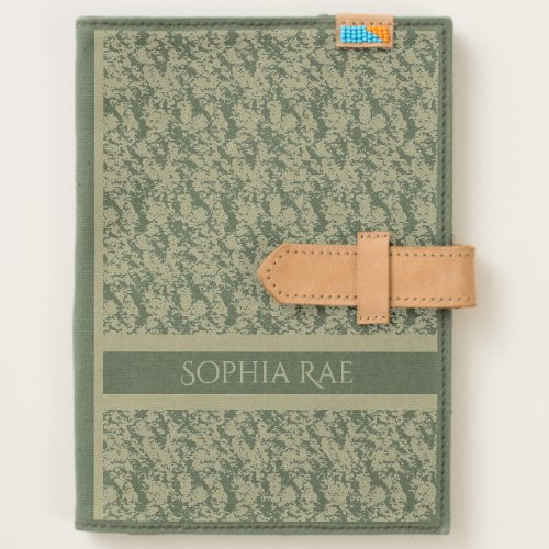 Cloud Textured Khaki with Name Journal
