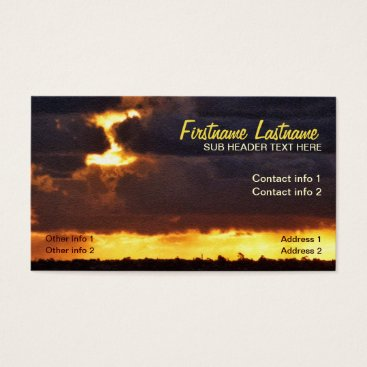 Clouds Rich Sunset Texture Weather Business Card