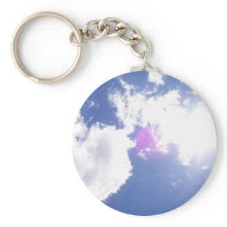 Clouds with Orb Keychain keychain