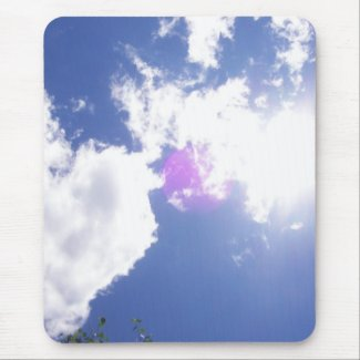 Clouds with Orb Mousepad mousepad