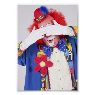 Clown Peekaboo print