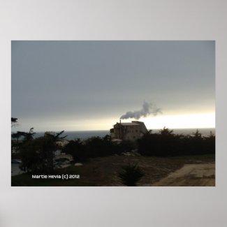 Coastal Fog and Smoke Print