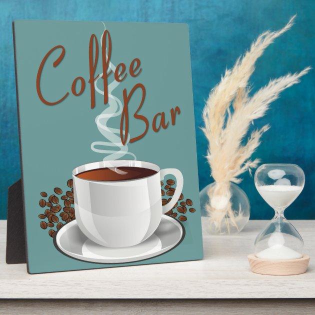 Coffee Bar Sign Plaque  Zazzle