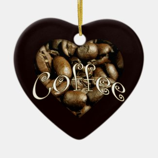 Coffee Heart Christmas Tree Ornament