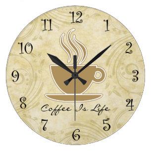 kitchen clocks table centerpiece ideas wall zazzle coffee