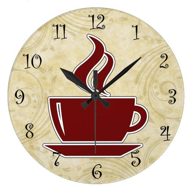 Coffee Kitchen Wall Clocks Zazzle Com
