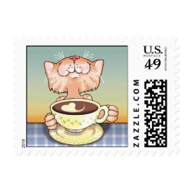 Coffee Loving Tabby Postage