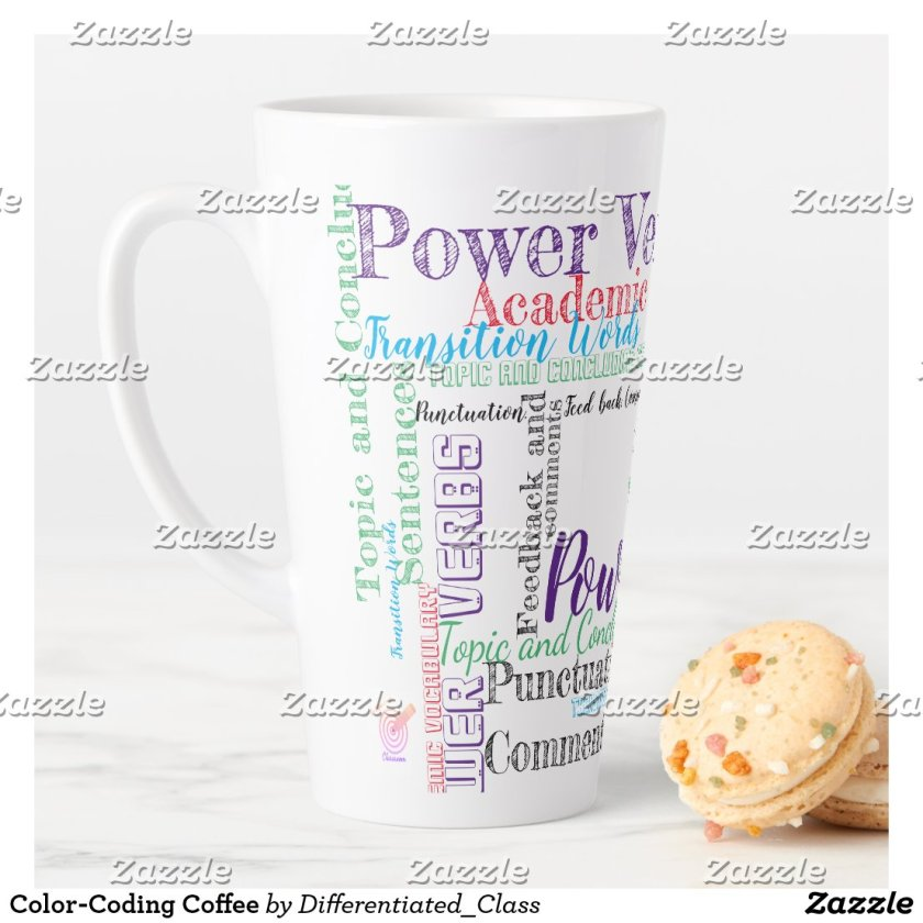 Color-Coding Coffee Latte Mug