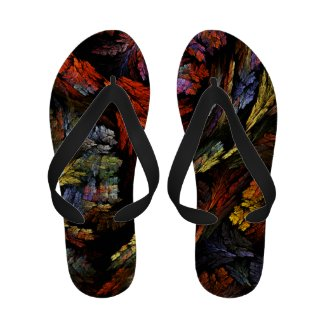 Color Harmony Abstract Art Flip-Flops