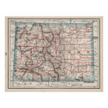 Colorado Counties Map (1893) Poster
