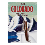 Colorado Ski travel poster