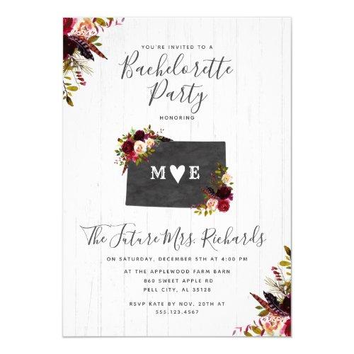 Colorado State Bachelorette Party Invitation
