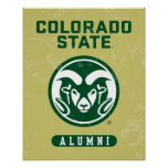 Colorado State University Alumni Logo Distressed Poster