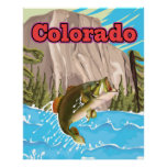 Colorado vintage travel print. poster