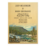 Vintage Colorado Wedding Invitation (Part of a collection. Includes RSVP)