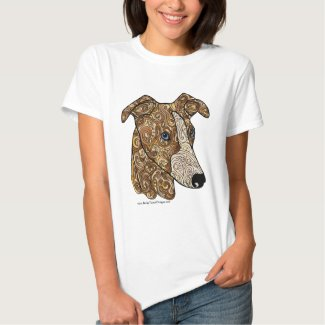 Colored Whippet Doodle Dog T-Shirt