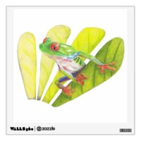 Frog Wall Decals & Wall Stickers | Zazzle