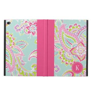 Colorful Bohemian Paisley Monogram Powis iPad Air 2 Case